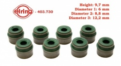 Elring set of 8 valve stem seals 6mm 403.730